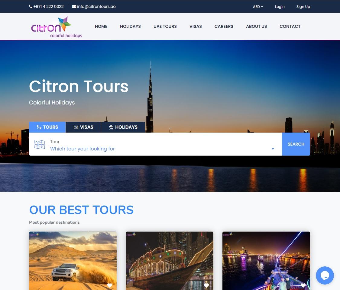 citron tours website
